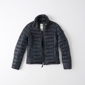 NWT Abercrombie&Fitch Shiny Quilted Puffer Jacket